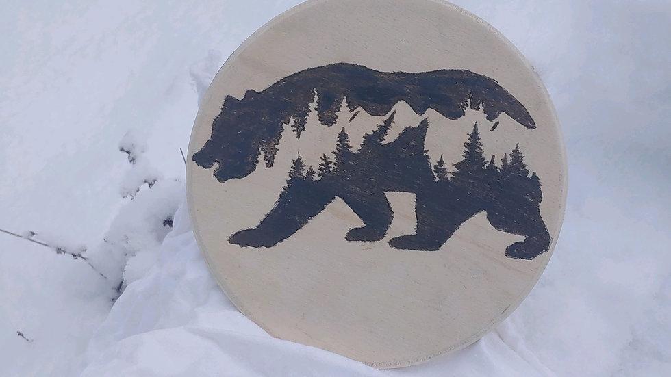 Rune casting board (berserker bear)