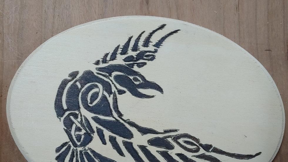 Rune casting plaque (odin's raven)