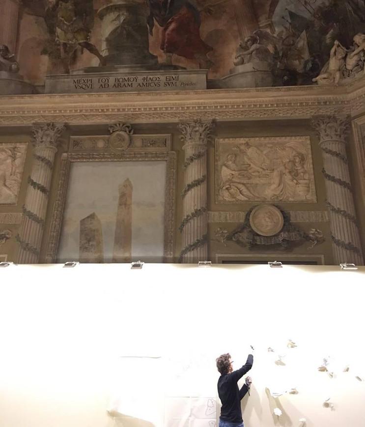 Montaje en el Palazzo Palavicini de Bolonia