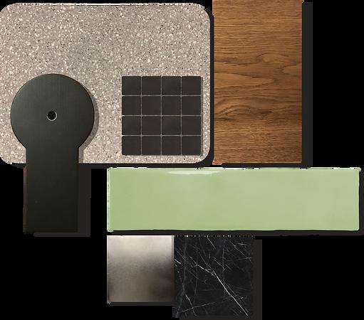 interior design material mood board