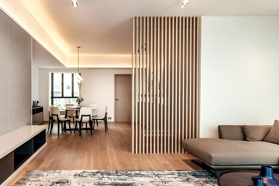 living dining room minimal interior design