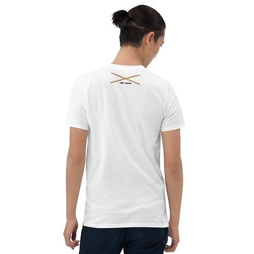 Short-Sleeve Unisex T-Shirt with Logo/Sticks