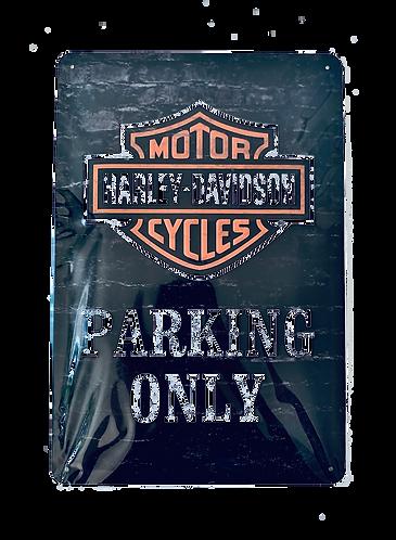 Harley Davidson - Parking only - Blechschild 20 x 30 cm