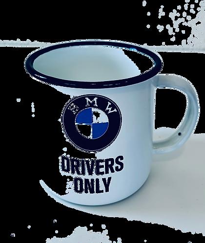BMW Emaille Becher, 360 ml