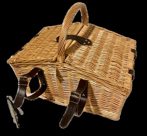 Picknickkorb für 4 Personen aus Weide, 26-teilig