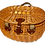 Thumbnail: Picknickkorb für 2 Personen aus Weide, oval, 15-teilig