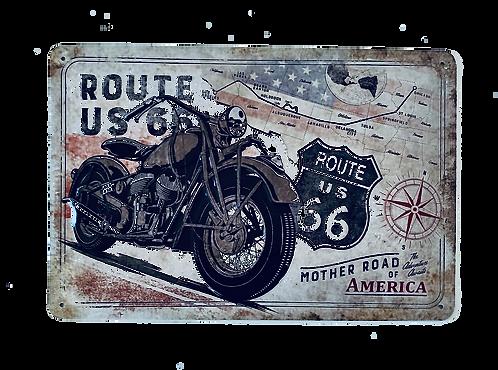 Route 66 Blechschild 20 x 30 cm
