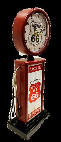 Tischuhr Zapfsäule Route 66 rot