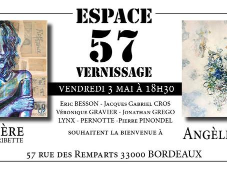 Vernissage à l'Espace 57 - Bordeaux