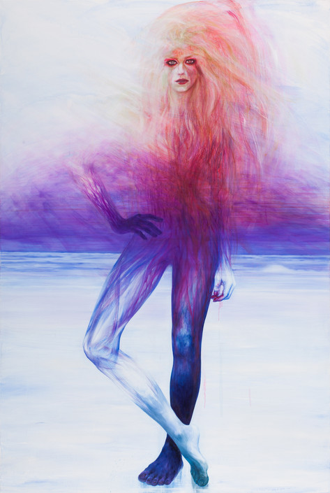 Girl standing on the Ice