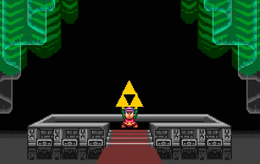 triforce in A Link to the Past Game
