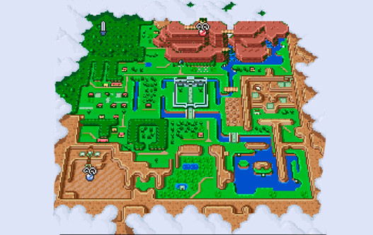map zelda link to the past