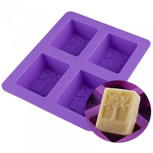 Moule en silicone pour 4 savons