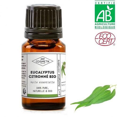 Huile essentielle Eucalyptus citronné certifiée bio