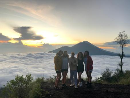 Climbing up Mount Batur in Bali, Indonesia