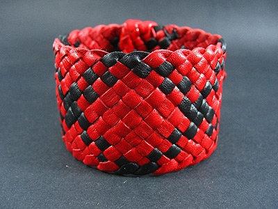 Multi-coloured hand plaited of 14 strands bracelet