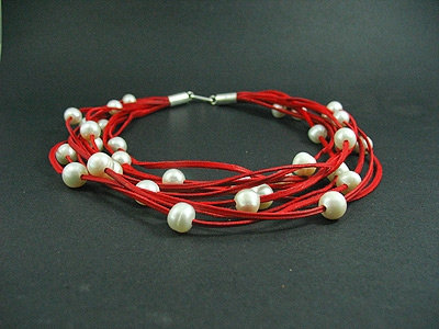 33 White Fresh Water Pearl Necklace