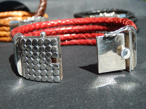 4 Strand Bracelet with Stainless Steel Clasp