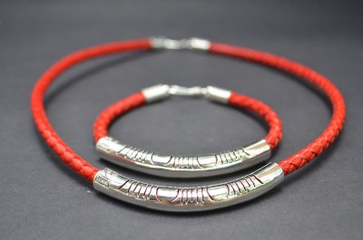 Red Sterling SIlver Fine Cut Gift Set