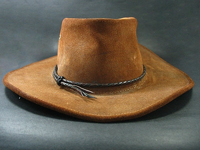 Brown & black Round Hand Plaited Hatband