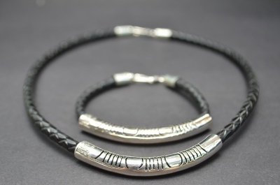 Black Sterling SIlver Fine Cut Gift Set