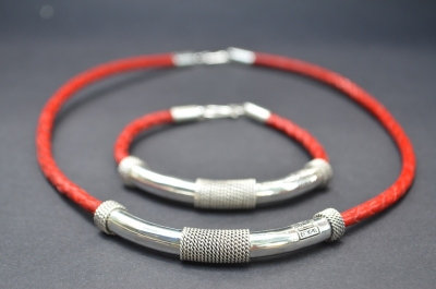 Red Sterling SIlver Fine Decoration Gift Set