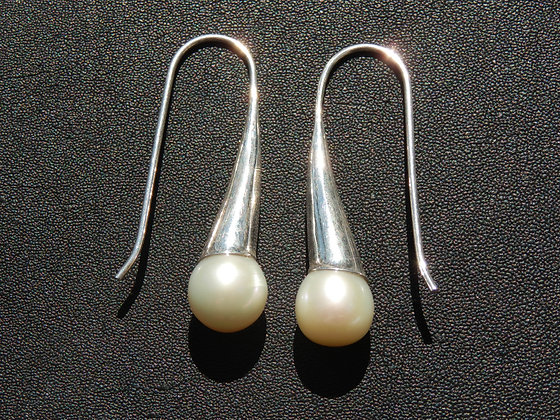 Fresh Water Pearl with Sterling Silver Earrings