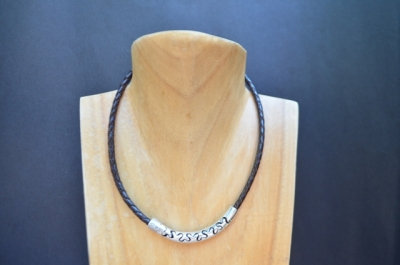 Ornamental Cut Sterling Silver Necklace