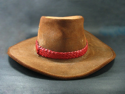 Kangaroo Leather Flat Hand Plaited Hatband