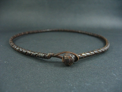 Kangaroo Leather Choker with Turk's Head