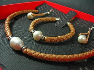 Necklace, Bracelet & Earrings Set, Natural