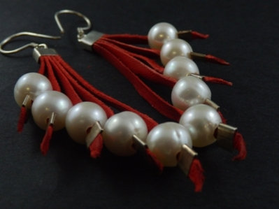 Cascading 5 Fresh Water Pearl Earrings