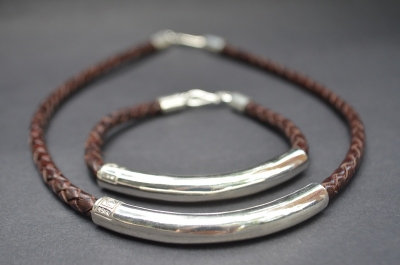 Brown Sterling SIlver Tube Gift Set