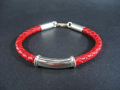 Fancy Silver Tube Bracelet