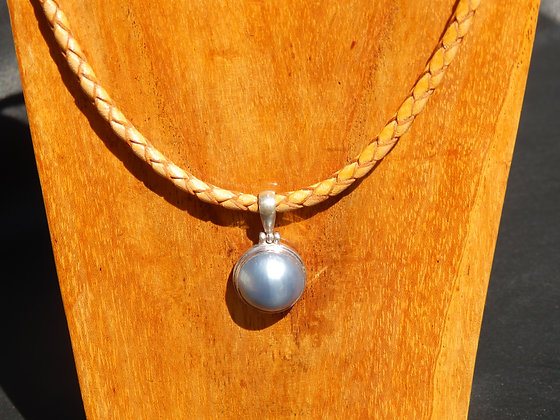 Light Blue Mabe Pearl Necklace