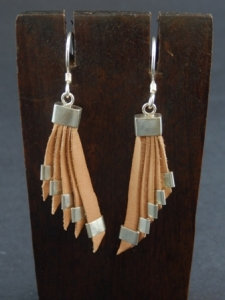 Cascading Earrings with Sterling silver