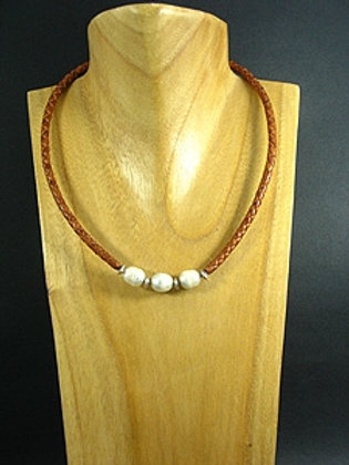 3 White Fresh Water Pearl Necklace