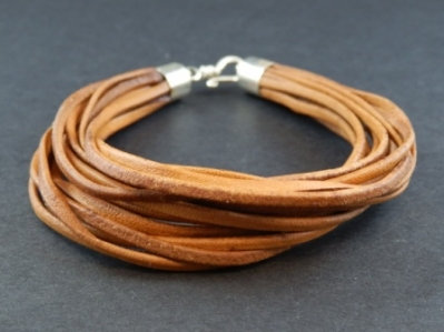 Multiple Strand Leather Bracelet