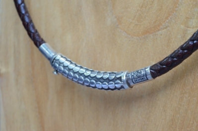 Sterling Silver Dotted Tube Choker