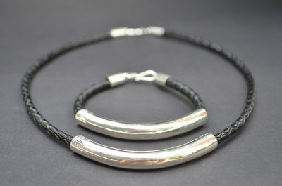 Black Sterling SIlver Tube Gift Set