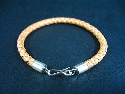 Thin Bracelet with Sterling silver endings