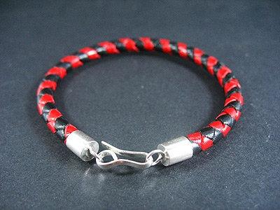 Thin Multi-Coloured Silver Endings bracelet