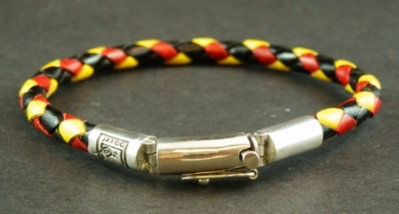 Multi-coloured Safety lock bracelet with logo