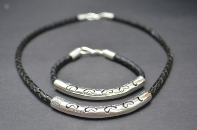 Black Sterling SIlver Ornamental Cut Gift Set
