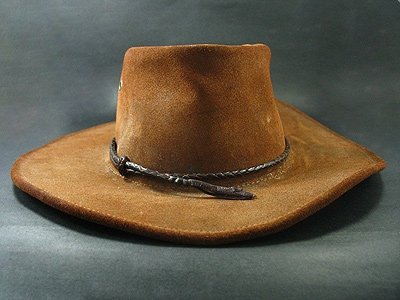Kangaroo Leather Round Hand Plaited Hatband