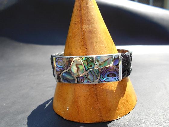 Paua Shell Bracelet set in Sterling Silver