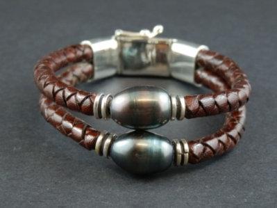 Double Black Fresh Water Pearl Bracelet