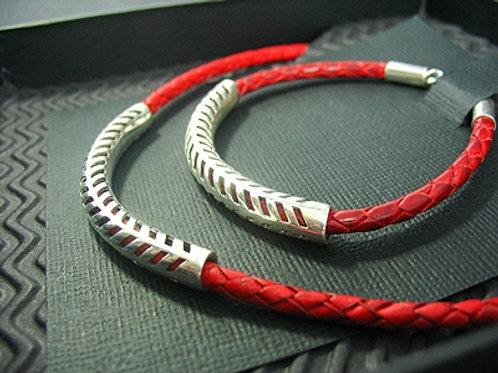 Plaited Necklace & Matching Bracelet