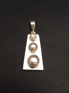 Triple White Pearl Pendant