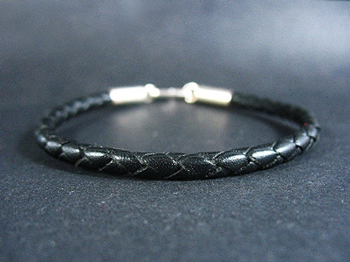 Thin Bracelet with Sterling Silver Endings (4mm)